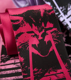 Hot pink laser cat tie by Cyberoptix.