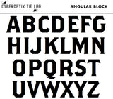 Cyberoptix Angular Block font for monograms, Brothers