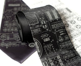 Apollo Cockpit Controls Neckties, by Cyberoptix. Black tie