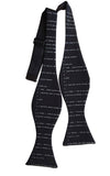 Apollo 11 Source Code Self Tie Bow Tie, black. By Cyberoptix
