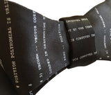 Apollo 11 NASA Source Code Bow Tie, black. By Cyberoptix
