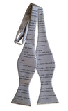 Apollo 11 Source Code Self Tie Bow Tie, silver. By Cyberoptix