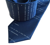 Apollo 11 Source Code Silkscreen Necktie, French Blue. By Cyberoptix