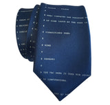 Apollo 11 Source Code Tie, French Blue. By Cyberoptix