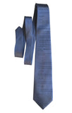 Apollo 11 Source Code Hand Printed Silk Necktie, cadet blue. By Cyberoptix