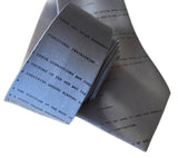 Apollo 11 Source Code Silk Necktie, cadet blue. By Cyberoptix