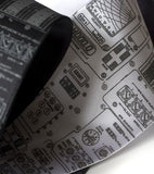 Apollo Cockpit ties: Dove grey on black, charcoal, white