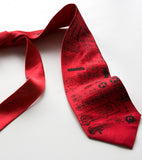 Rocket Science, red silk necktie.