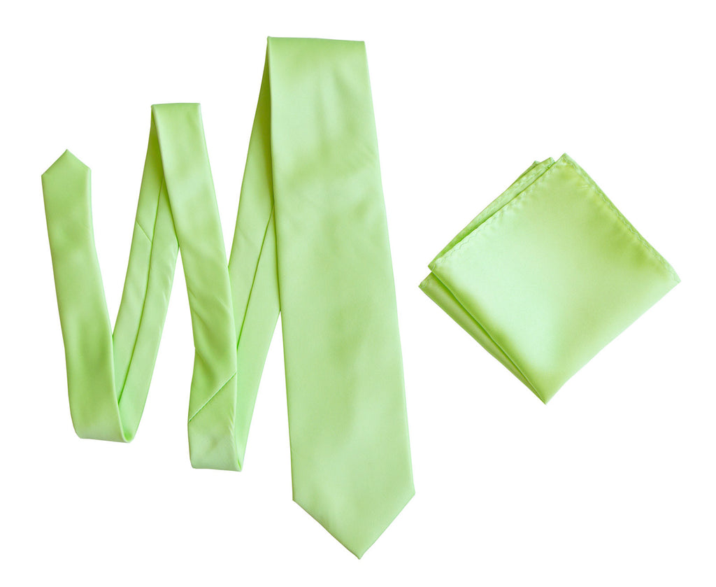 light green solid color pocket square apple green satin finish no print for weddings - Apple Green Color