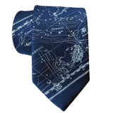 Aquarius Constellation Necktie, Ice on French Blue Tie, by Cyberoptix