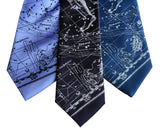 Aquarius Star Chart Neckties, Constellation Print Ties, by Cyberoptix