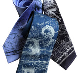 Aquarius Neckties, Zodiac Constellation Print Ties, by Cyberoptix