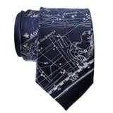 Aquarius Constellation Necktie, Silver on Navy Tie, by Cyberoptix