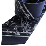 Aquarius Star Sign Necktie, Vintage Star Chart Print Tie, by Cyberoptix
