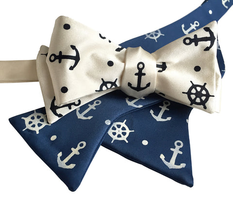 Anchor Bow Tie, Nautical Print