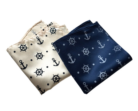Anchor Print Pocket Square