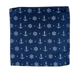Nautical print, Anchor pocket square, by Cyberoptix. French blue.