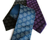 atom print neckties, by cyberoptix tie lab, detroit