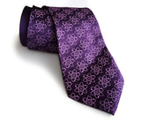 purple atoms necktie, science tie by cyberoptix