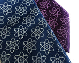 science ties, atoms print