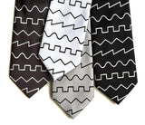 Oscillator waves necktie, by cyberoptix