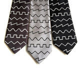Synth waves neckties