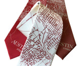 Austin 1934 Map Necktie, Accessories for Men, by Cyberoptix