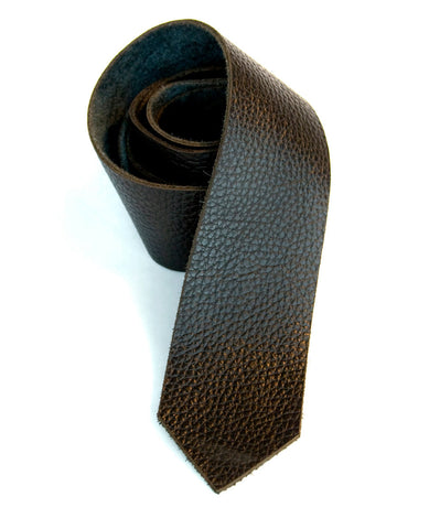 Black Leather Necktie, automotive leather tie.