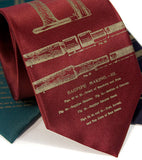 Burgundy Red Bagpipes Tie