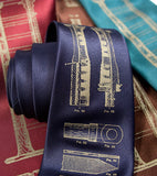Navy Blue Bagpipes Necktie