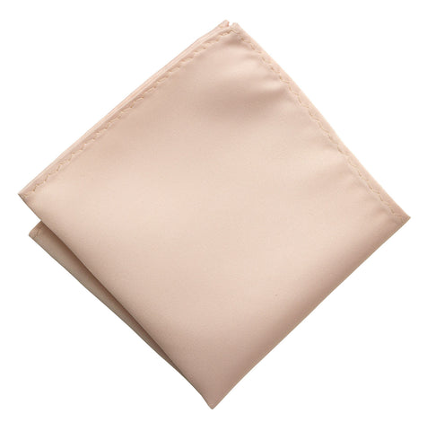 Ballet Pink Pocket Square. Solid Color Satin Finish, No Print