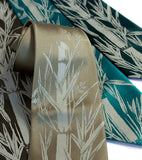 olive green bamboo necktie