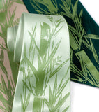 Apple green bamboo leaf necktie