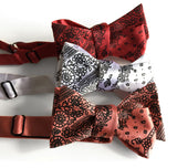 rustic wedding bandana print bow ties