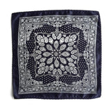 navy blue bandana pocket square