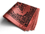 dark salmon bandana print pocket square