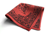 rust red bandana pocket square