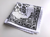 white bandana print pocket square