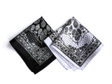 blacka nd white urban bandana print pocket squares