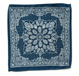 blue bandana print pocket square by cybeorptix
