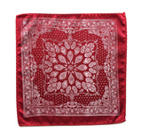 mens red bandana print pocket square