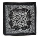 black and white bandana print pocket square