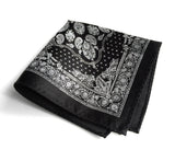 black bandana print pocket square
