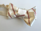 Baseball Stitching Bow Tie