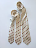 cream color baseball tie