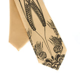 kids hops and wheat necktie, honey gold
