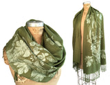 Moss green beer pashmina scarf, by Cyberoptix
