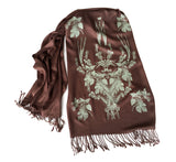 Dark brown beer scarf, by cyberoptix
