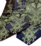 Beer lover necktie: Apple-lime ink on dark brown, charcoal, olive, navy.