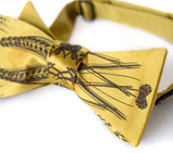 Mustard yellow beer bow tie